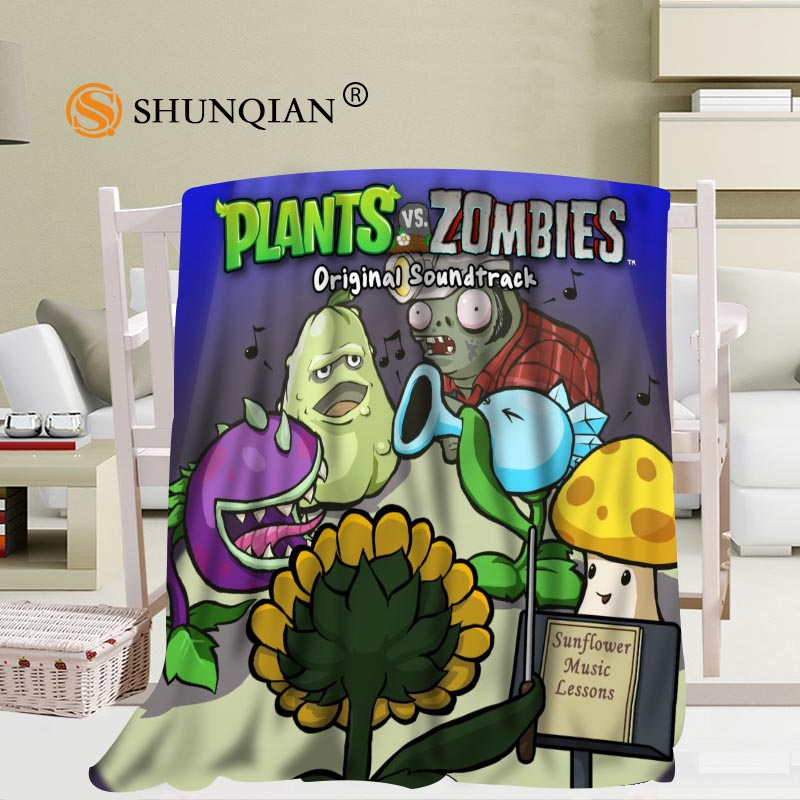 Custom Plant VS Zombie Blanket Soft Fleece DIY Your Picture Decoration Bedroom Size 58x80Inch,50X60Inch,40X50Inch A7.10