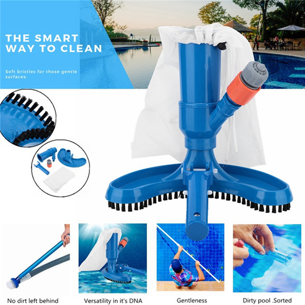 1 Set Mini Jet Swimming Pool Vacuum Floating Objects Cleaning Tools Suction Head Pond Fountain Vacuum Brush Cleaner