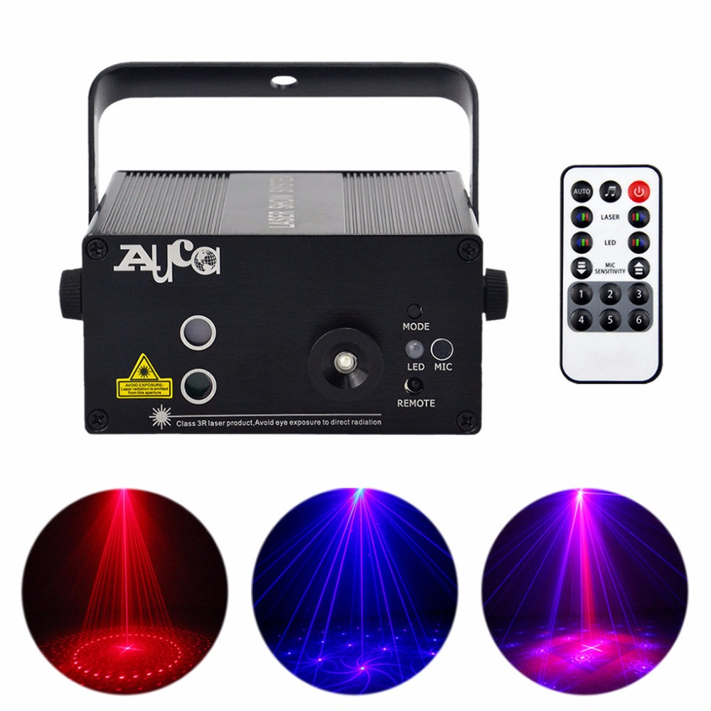 AUCD 16 Patterns RB Laser Crossover Effect Projector 3W Blue LED Mixing Effect DJ KTV Party Show Wedding Stage Lighting Z16RB 3 lens 36 patterns rg blue mini led stage laser lighting professinal dj light red gree blue