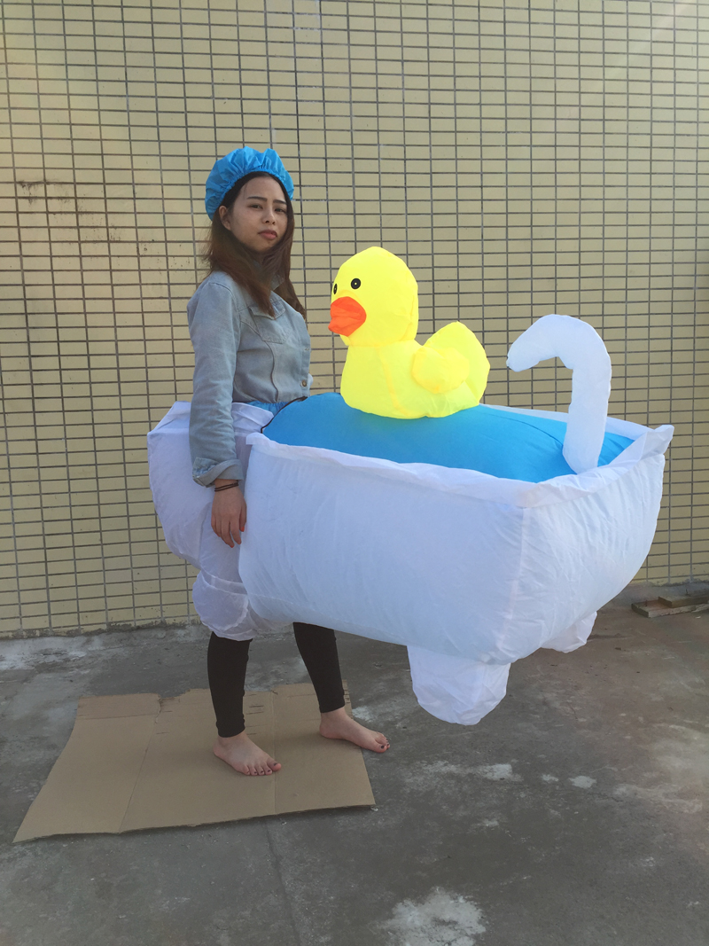 Free shipping 1 5 2m inflatable baby bathtub costume for Housse transport costume