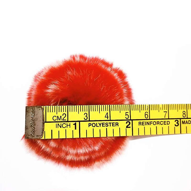 Rex Rabbit Fur Flower Brooch Pin  Toque Pin