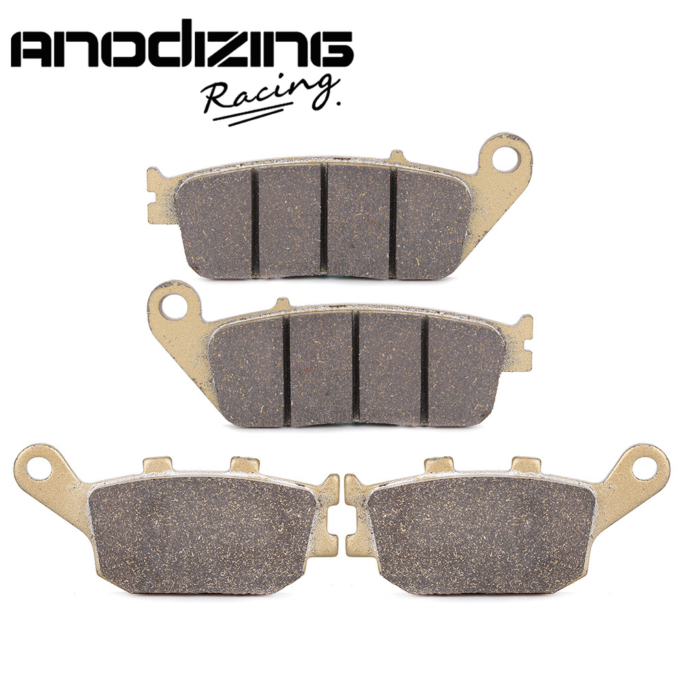 Motorcycle Front and Rear Brake Pads For HONDA CBR250R 2011-2014 CBR300R 2015-2016 CBR500R 2013-2014 1999 2000 arctic cat 250 2x4 kevlar carbon front brake pads