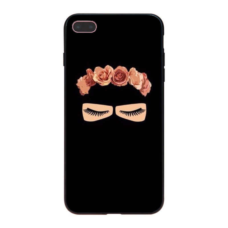 MaiYaCa mujer árabe con Niqab cara ojo lindo suave teléfono accesorios funda para iPhone 8 7 6 6 S Plus X 10 5 5S SE 5C Coque Shell