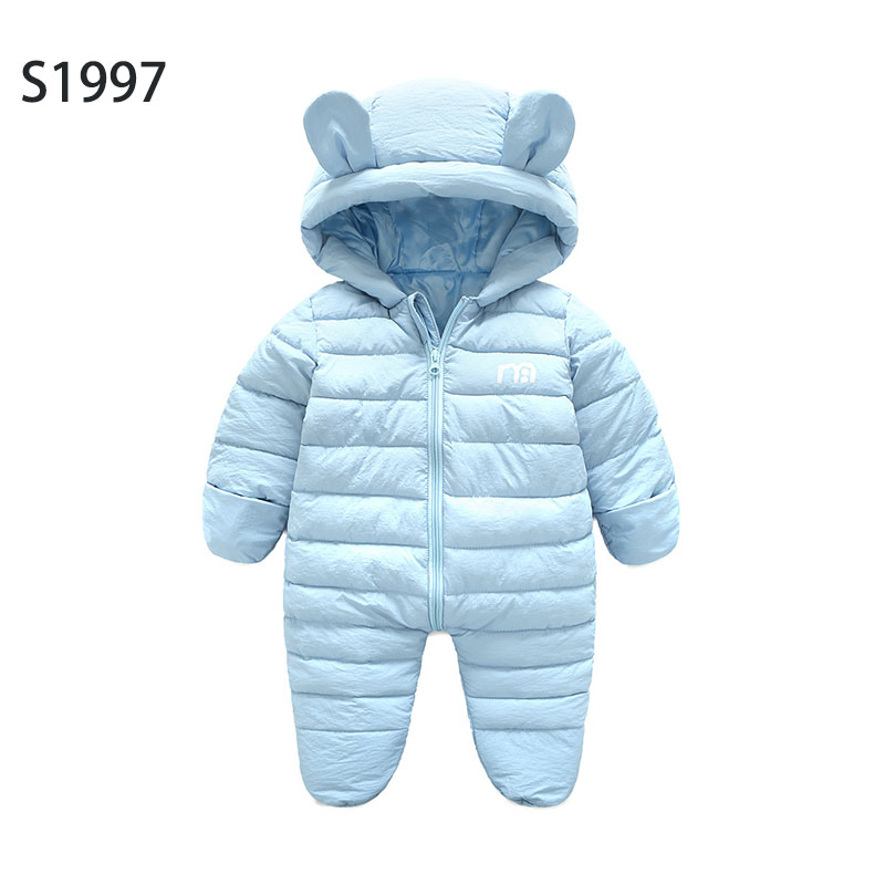 Hot Sale New Baby Rompers Winter Thicking Warm Baby Boy Clothing Long Sleeve Cartoon Letter Hooded Jumpsuit Kids Newborn Outwear warm thicken baby rompers long sleeve organic cotton autumn