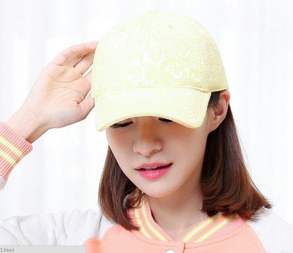 75d2c3d8e0a 10pcs Lot Fine Womens Flower Jacquard Baseball Cap 2017 Designer Ladies  Floral Cotton Baseball Hats for Spring Summer Wholesale-in Baseball Caps  from ...
