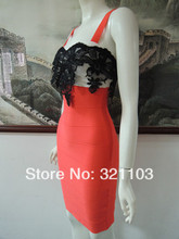 straps red fashion lace bandage dress and sexy bodycon dress for the women in direct factory DM657