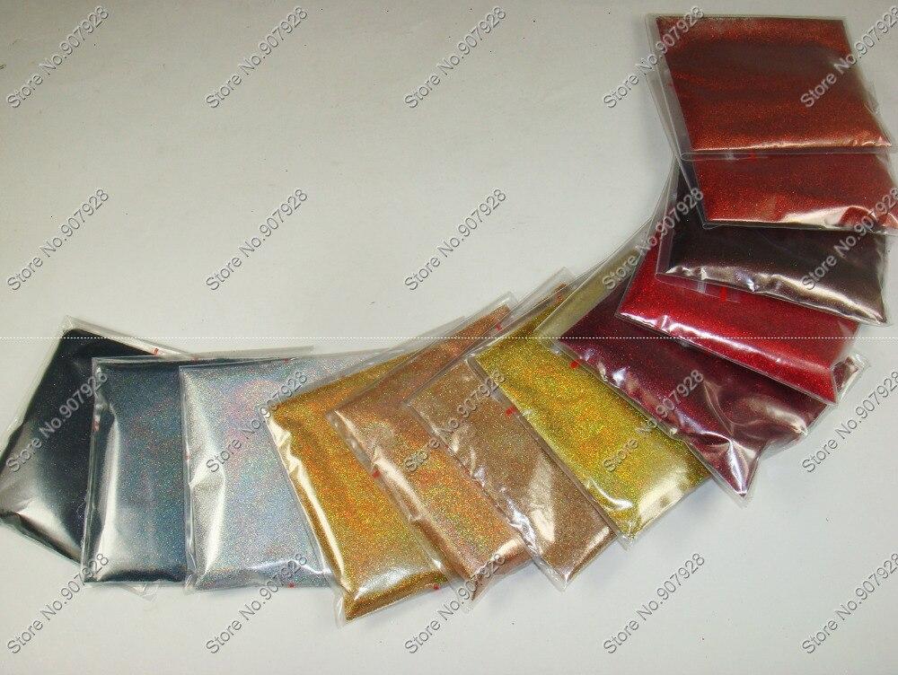 Смешанные 24 голографические Лазерные Цвета 0,1 мм 004 дюйма блеск для ногтей порошок пыли для DIY ногтей Блеск ремесла художественное украшение