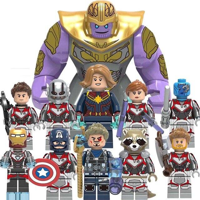 Legoinglys Thanos энергетические камни перчатки строительные блоки Мстители 4: Endgame Железный человек блок Marvels legoly детские игрушечные фигурки подарок