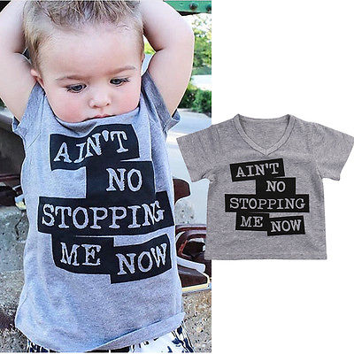5955beb0bd1fa 2017 Fashion Toddler Baby Boy Kids Clothes Casual Short Sleeve T-shirt  Graphic Tee Cotton baby boy clothing t-shirts