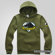 MGS 5 Metal Gear Solid V Diamond Dogs Outer Heaven Logo 100% Cotton Print Pattern Zip Up Hoodie Sweatshirt Coat