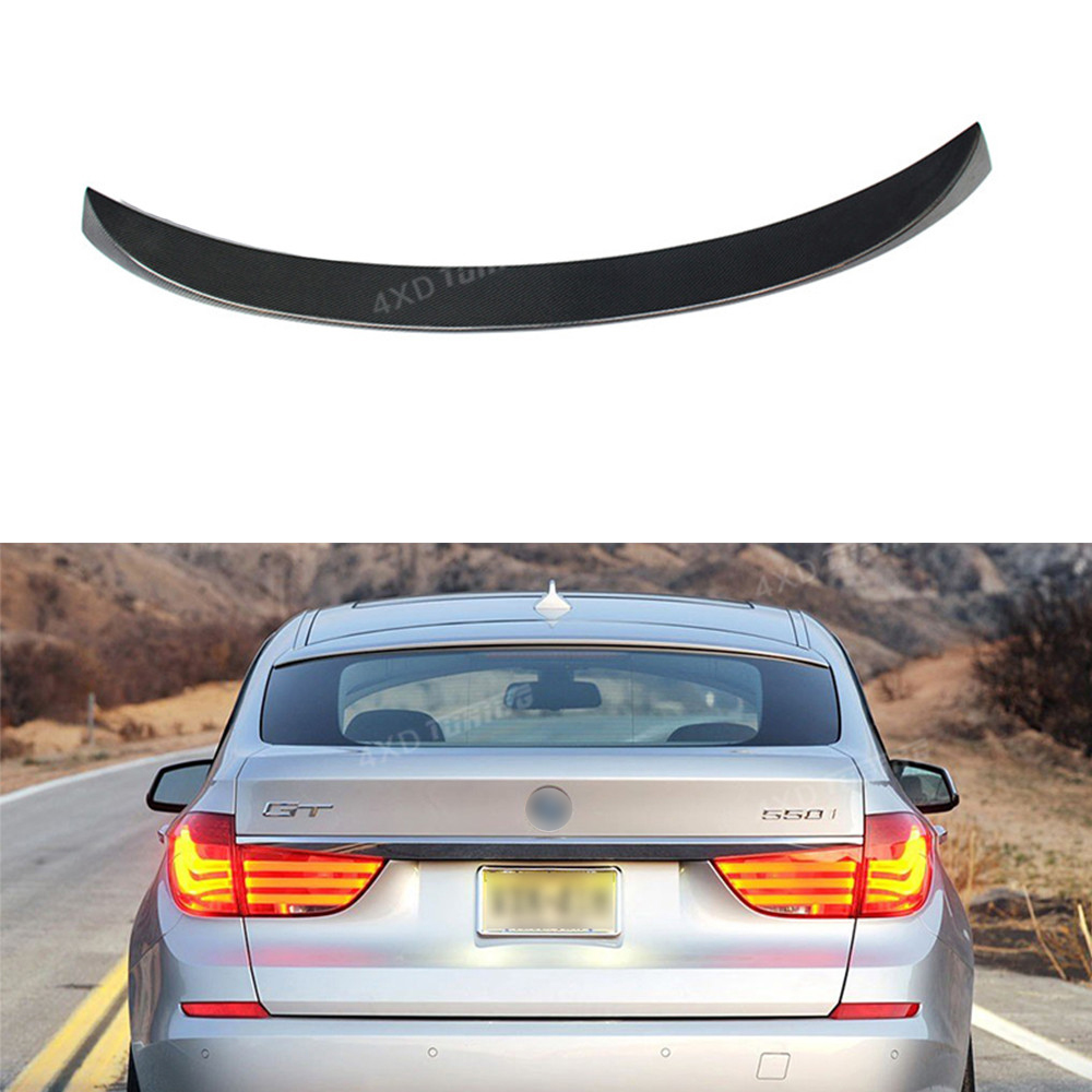 For BMW 5 Series F07 GT Gran Turismo Carbon Spoiler F07 Carbon Fiber Rear Spoiler Rear Bumper Trunk wing car styling 2010-2013 цены онлайн