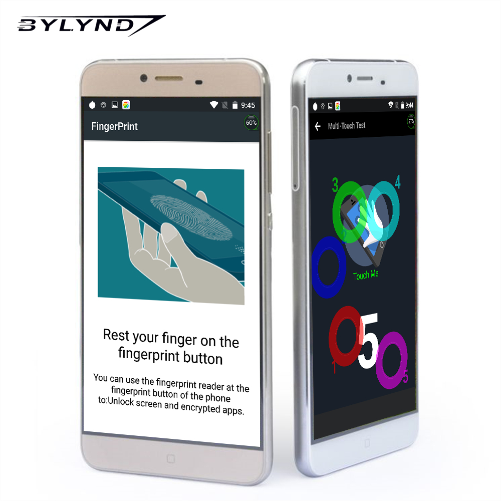 Original BYLYND M9 4G LTE Fingerprint Smartphone 5 5 MT6753 Octa Core Cellphone 3GB 32GB Android