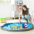 Multicolor Portable Kids Oxford Toy Storage Bag Home Outdoor Children Play Mat Folding Toy Collection Bag