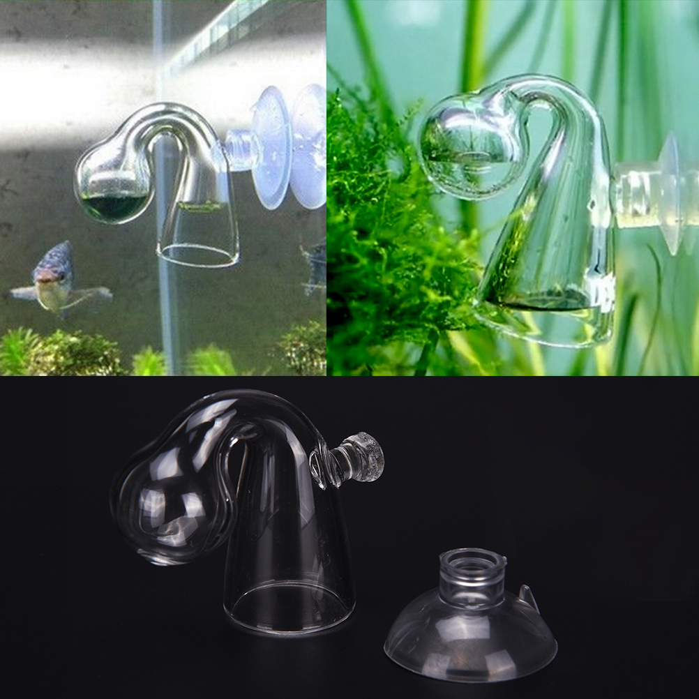 Fish Tank Water Live Moss Plant Aquarium Notes Glass CO2 Drop Checker Carbon Dioxide PH Ball Long Term Indicator Monitor Tester