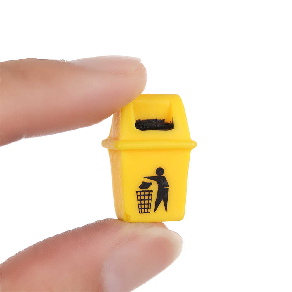 1 MÁY TÍNH DIY Nhựa Micro Phong Cảnh Thu Nhỏ Biển Chỉ Dẫn Đồ Trang Trí Nhà Búp Bê Đèn Vườn Cổ Tích Hướng Phố Hình Thủ Công