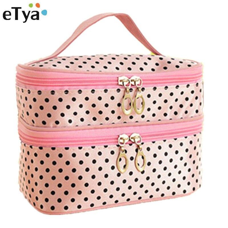 eTya women Portable Travel Cosmetic Bag Storage Toiletry Organizer Makeup Wash Case eTya New Brand Gift Travel Make Up Kit