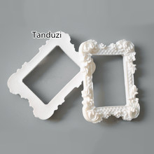 Tanduzi 20PCS Resin Mini Photo Frame Fake Plaster Photo Frame Resin DIY Albums Gadgets Decorative Albums Accessory(China)