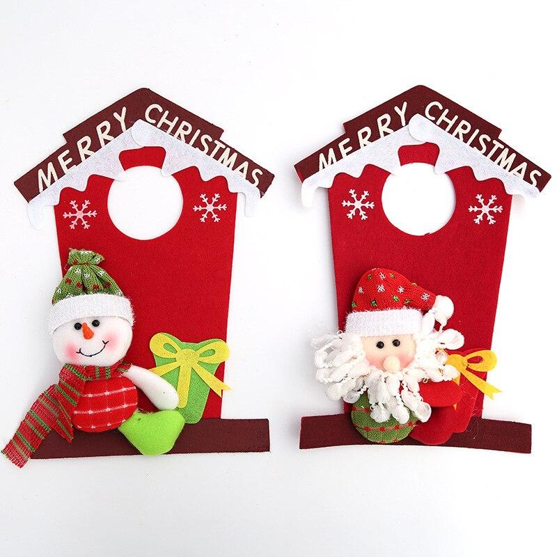Natal Frohe Weihnachten Santa Fenster Haushalt Einzelteile Hängende Ornamente Weihnachten Frohes Neues Jahr Tür Dekoration Noel Navidad Liefert
