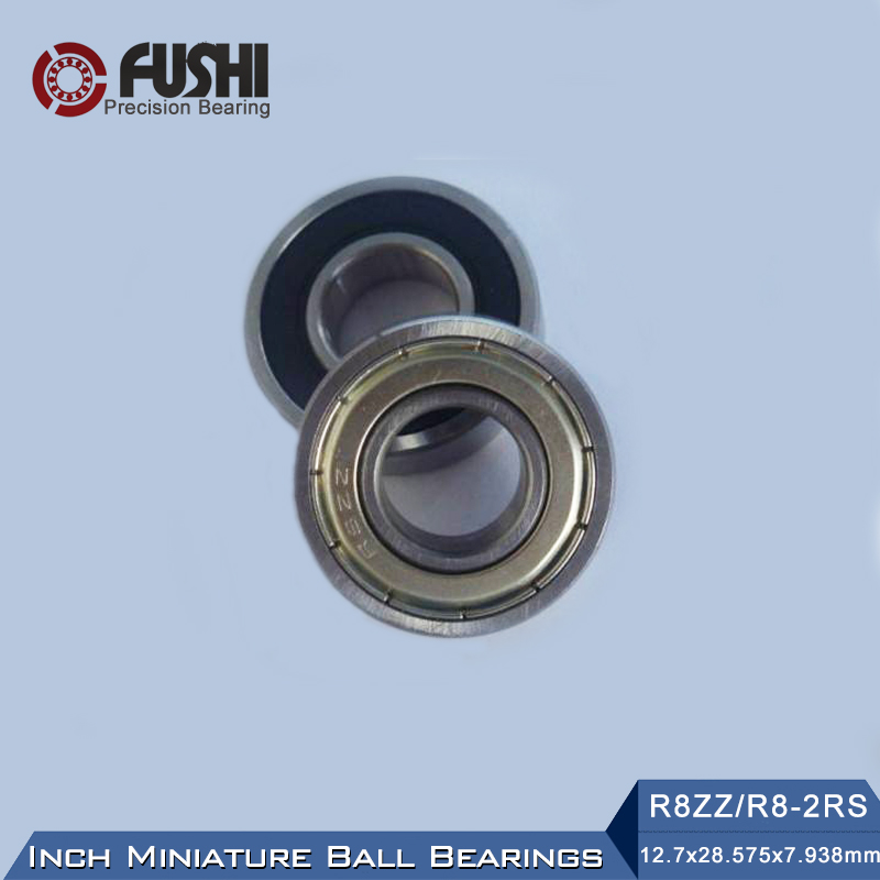 R8ZZ R8-2RS Bearing 12.7x28.575x7.938mm ABEC-1 ( 10 PCS ) Inch Miniature R8 ZZ R8RS Ball Bearings 1pcs 71822 71822cd p4 7822 110x140x16 mochu thin walled miniature angular contact bearings speed spindle bearings cnc abec 7