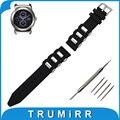 22 мм Силиконовой Резины Ремешок Для Часов + Инструмент для LG G Watch W100/R W110/Вежливый W150 Замена Ремешок Ремешок Браслет черный