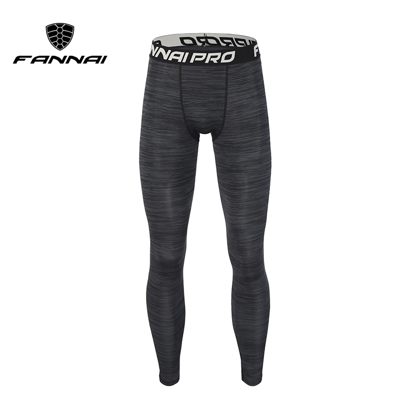 FANNAI Compression Fitness Men Running Tights High Elastic Sports Leggings Quick Dry Ankle Length Pants Gym Socks in Running Tights from Sports Entertainment