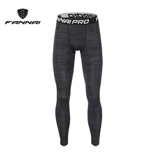 FANNAI Compression Fitness Men Running Tights High Elastic Sports Leggings Quick Dry Ankle Length Pants Gym Socks