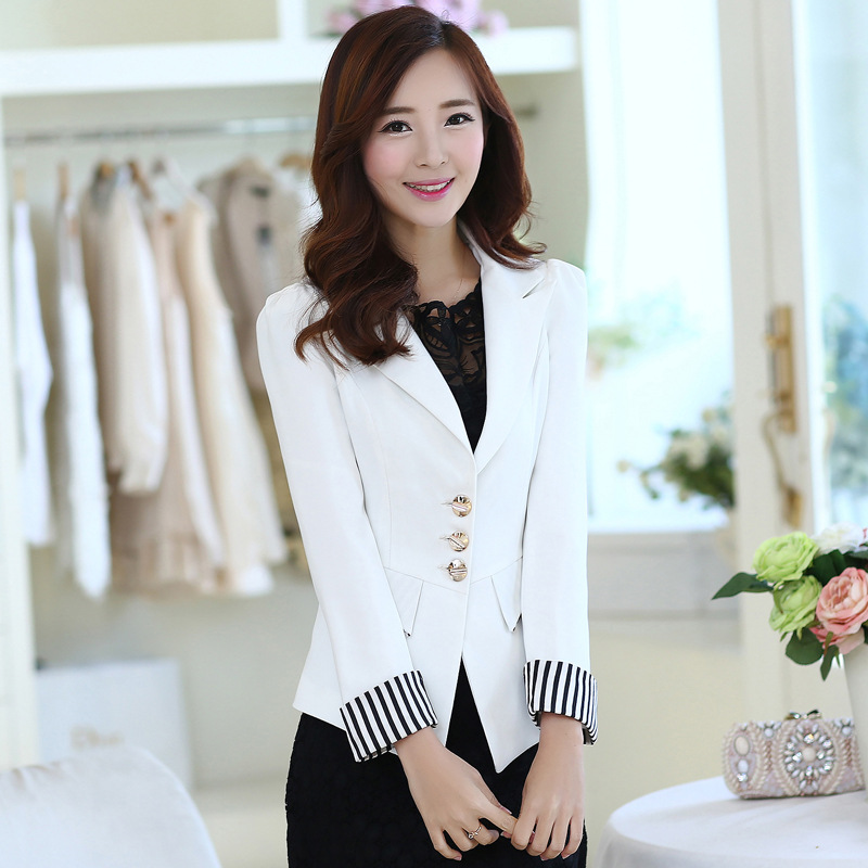 Korean Type Fashion Women Slim Long Sleeve Working Party Casual Coats Jackets in Jackets from Women 39 s Clothing