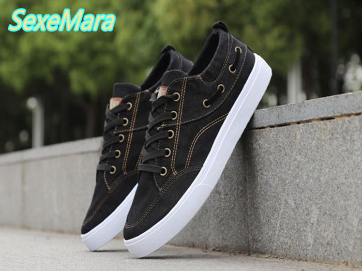 Black Men Shoes Casual Shoes Men Lace-up Canvas Shoes Spring Fashion New Loafers Breathable Male Flats Boat Shoes Zapatos Hombre 2017 new fashion summer spring men driving shoes loafers real leather boat shoes breathable male casual flats