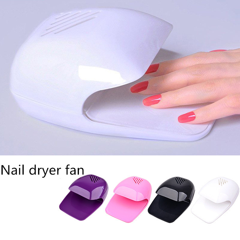1pcs Mini Nail Dryer Fan For Curing Nail Art Polish Gel Dryer Winds ...