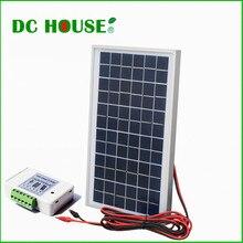 Policristalino do Painel Poli plus 3A Clipes de Bateria Reino Unido Stock 10 W 12 V Solar Kit Completo Painel Controlador plus