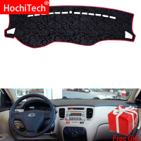 Rose Pattern Non slip Dashmat Dash Mat Dashboard Cover Pad Cover Carpet Car Sticker for Kia RIO 2005 2006 2007 Car Styling