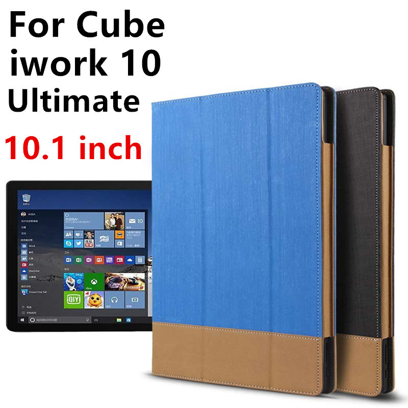 Case For Cube iwork 10 Ultimate Protective Smart cover PU Leather Protector Sleeve Tablet PC For iwork10 Ultimate Cases Covers ultra thin smart flip pu leather cover for lenovo tab 2 a10 30 70f x30f x30m 10 1 tablet case screen protector stylus pen