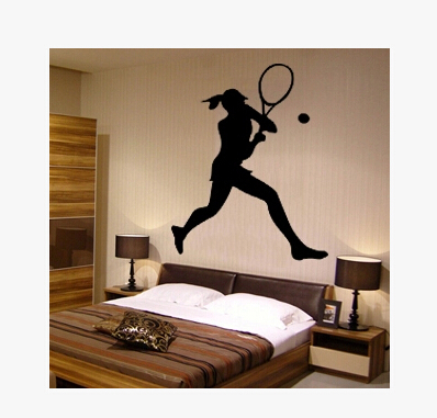 Tennis sports stadium wall stickers living room wall stickers bedroom bed sofa backdrop decorative wall stickers