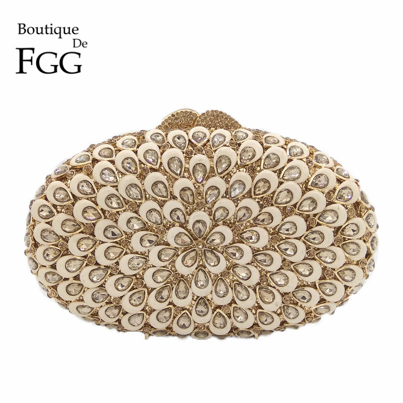 Gold Oil Plated Flower Hollow Out Women Crystal Clutches Evening Bags Ladies Mini Hand Bag Diamond Bridal Clutch Wedding Purse gold plating floral flower hollow out dazzling crystal women bag luxury brand clutches diamonds wedding evening clutch purse