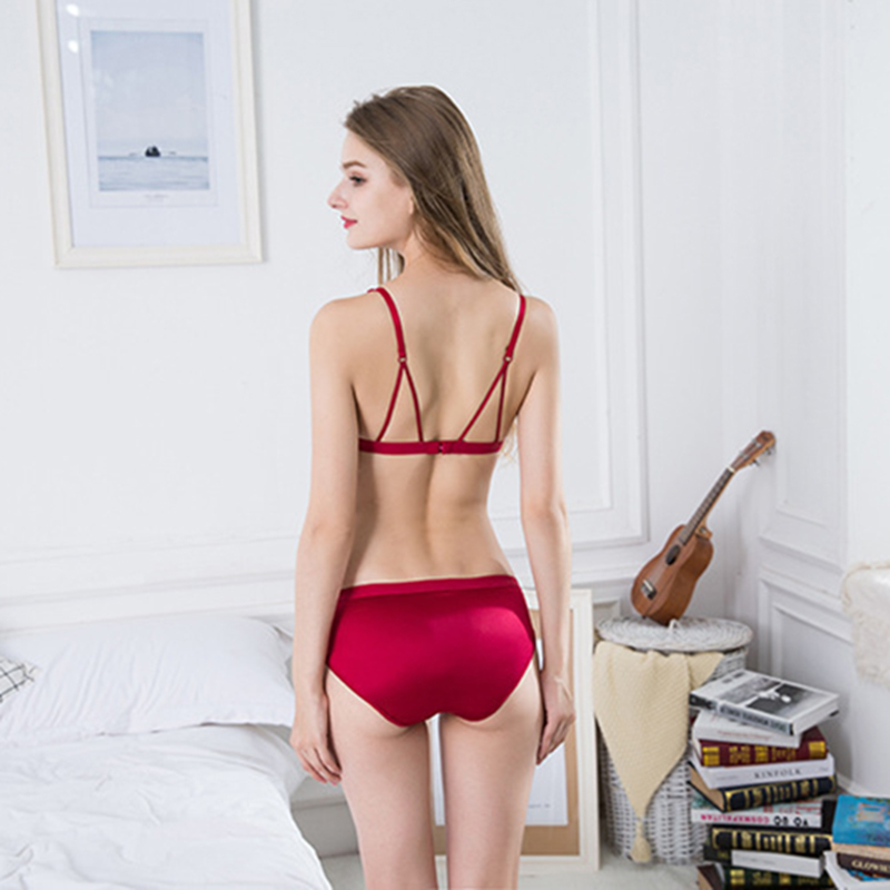 sexy mousse bra and panties sets stain hollow out black sexy underwear for women lingerie wire free aesthetic big size push up in Bra Brief Sets from Underwear Sleepwears