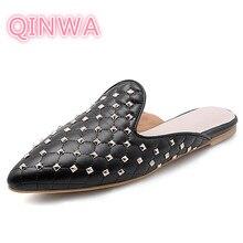 2019 Summer New  Rivet Slippers Korean Version Of Baotou Sandals Wild Wear Muller