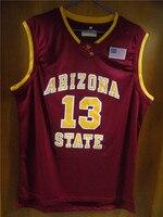 Aembotionen James Harden 13 Arizona State White Red Yellow Retro Throwback Stitched Basketball Jersey Embroidery Sewn