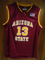 Aembotionen James Harden 13 Arizona State White Red Yellow Retro Throwback Stitched Basketball Jersey Embroidery Sewn