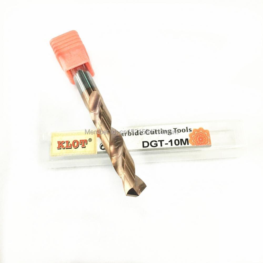 KLOT HRC65 TiCN Coated Solid Carbide Twist Drill Bit 10.1 10.2 10.3 10.4 10.5 10.6 10.7 10.8 10.9 11mm Full Length 70-150mm