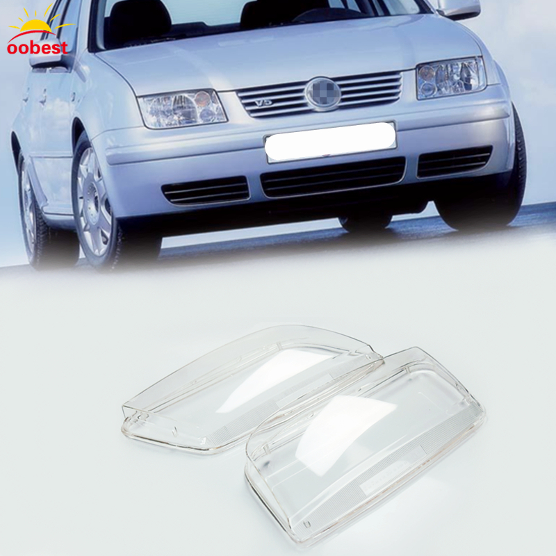 2pcs Left Right Headlight Headlamp Clear Lenses Shell Lens Clear Cover Lamp Transparent For Volkswagen Bora