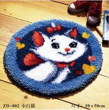 cat Picture Latch hook rug kits crochet hooks knitting needles Felt Craft sets for embroidery stitch thread Cross-stitch Carpet(China)