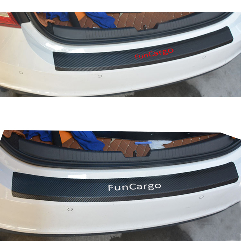 PU leather Carbon fiber Styling After guard Rear Bumper Trunk Guard Plate Car Accessories For Toyota Funcargo aosrrun after the stainless steel backboard of the guard board the rear guard plate car accessories for acura cdx 2016 2017