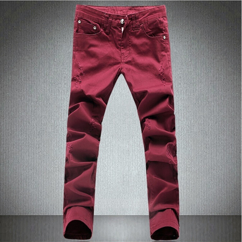 Mens Red Jeans Promotion-Shop for Promotional Mens Red Jeans on ...