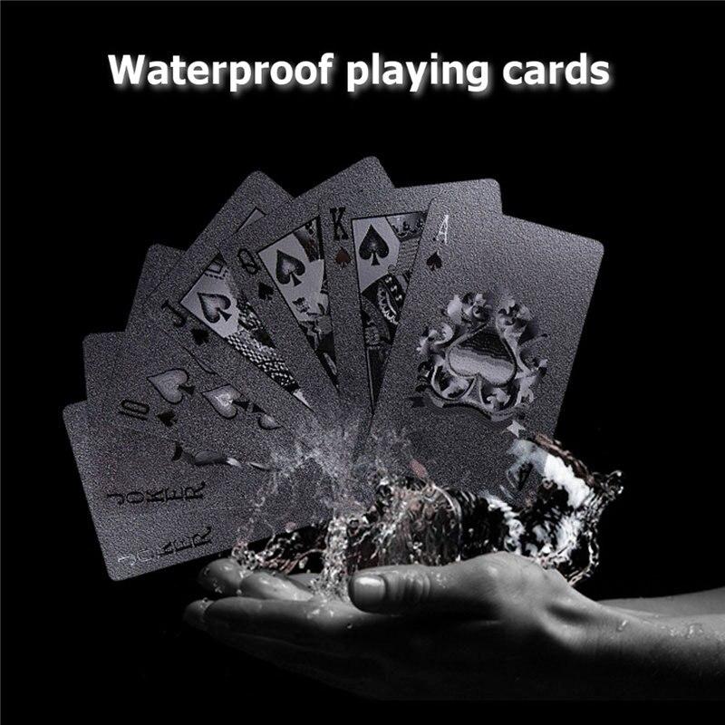 54pcs Black Diamond Plastic Playing Cards Collection Poker Cards Black Poker Card Sets Classic Magic Tricks