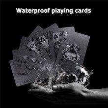 54 шт. черный бриллиант пластиковые игральные карты коллекция покер карты черный карты покер Устанавливает Классические Крисс инструмент настольные игры