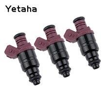 Yetaha 3Pcs Kraftstoff Injektor Für Chery John Deere 825i Gator UTV 3 Zylinder Motor 5WY2404A MIA11720 Auto Kraftstoff Zubehör