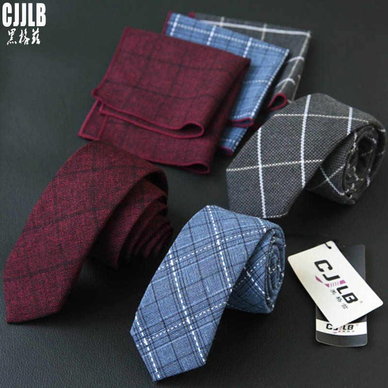 Corbatas Hombre poche carré mariage cravate ensembles nouveaux mouchoirs cravate ensemble pour hommes bleu Plaid cravate et mouchoir rouge cravate homme