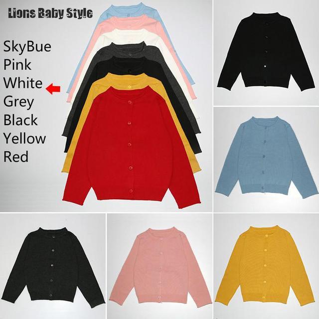 Wholesale Thin Type Kids Girls Boys Knitting Sweaters Children Kids Wool Sweater Baby Cardigan Clothing Girl Coats