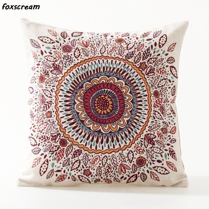 Прямая поставка Boho декоративные подушки охватывает диванных подушек акварель Геометрия наволочка поясничного белье наволочку для диван ...