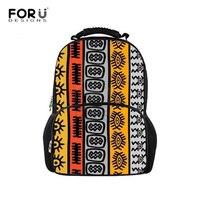 FORUDESIGNS Children School Bags for Kids Girl African Traditional Printing School Backpack Book Bag Teenager Large Felt Bagpack